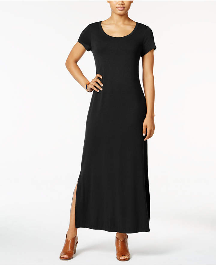 Style & Co Short-Sleeve Maxi Dress, Only at Macy's