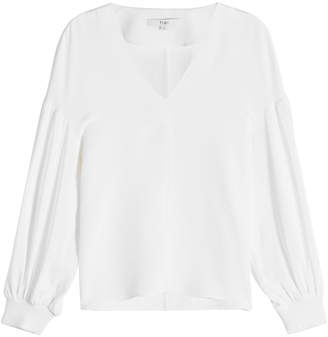 Tibi Silk Balloon Sleeve Blouse