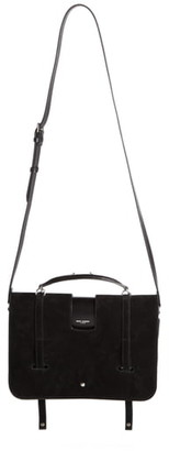 Saint Laurent Suede Top Handle Messenger Bag