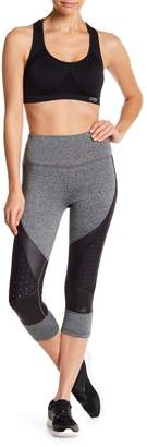 C&C California Colorblock Mixed Media Perforated Crop Leggings