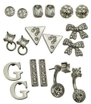 GUESS Holiday Boxed Nine-Piece Crystal Earrings Set