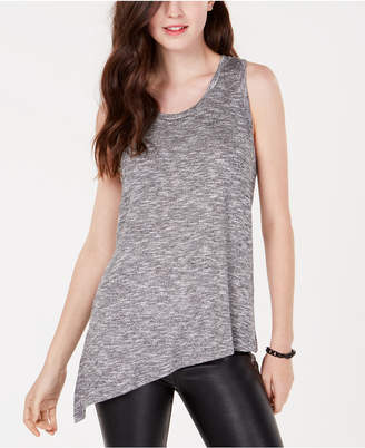 Material Girl Active Juniors' Side-Slit Marled Knit Top