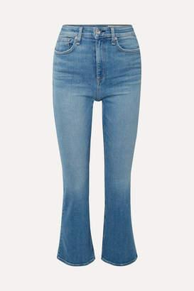 Rag & Bone Nina Cropped High-rise Flared Jeans - Mid denim