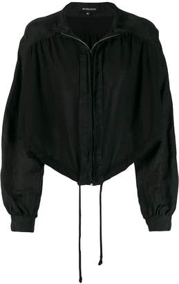 Ann Demeulemeester cropped zip jacket