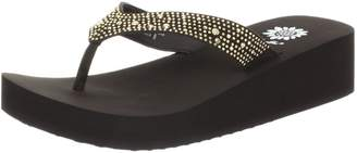 Yellow Box Women's Africa Wedge Flip Flop