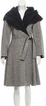 Norma Kamali Shawl Collar Wool Jacket
