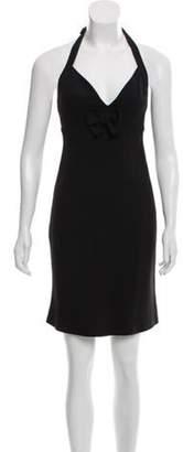 Sonia Rykiel Crepe Knee-Length Dress Black Crepe Knee-Length Dress