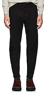 Lanvin Men's Biker Wool Flat-Front Trousers-Black