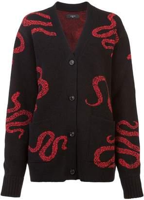 Amiri snake knit cardigan