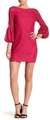 Laundry by Shelli Segal Puff Sleeve Lace Shift Dress