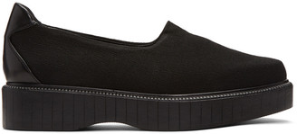 Robert Clergerie Black Pauli Jersey Slip-On Sneakers $450 thestylecure.com