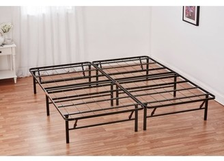 """Mainstays 14""""High Profile Foldable Steel Bed Frame, Powder-coated Steel, Queen"""