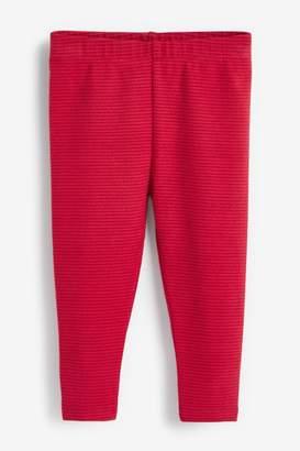 Next Girls Red Brushed Warm Leggings (3mths-7yrs) - Red
