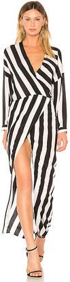Michelle Mason Draped Caftan Wrap Dress