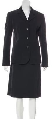 Prada Notch-Lapel Knee-Length Skirt Suit