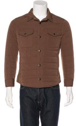 Brunello Cucinelli Quilted Snap-Front Jacket