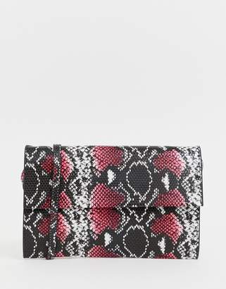 French Connection Laurie snakeskin print handbag