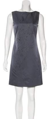 Alberta Ferretti Embellished Wool & Silk Dress