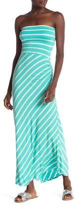 Love...Ady Strapless Stripe Maxi Dress