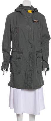 Parajumpers Hooded Knee-Length Coat