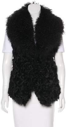 Ralph Lauren Sleeveless Fur Vest w/ Tags
