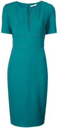 Zac Posen fitted waist v-neck day dress