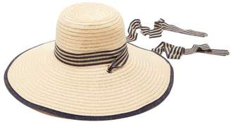 Filù Hats Filu Hats - Arenal Wide Brimmed Straw Hat - Womens - Dark Blue