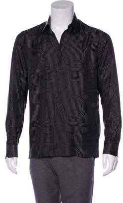Fendi Silk Button-Up Shirt