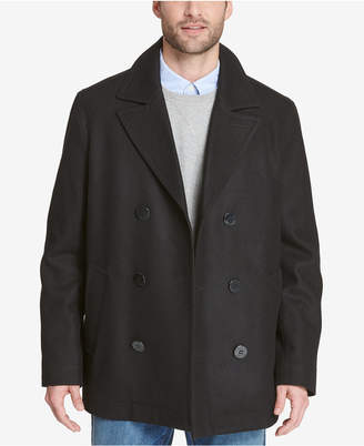 Tommy Hilfiger Men's Double-Breasted Wool Peacoat