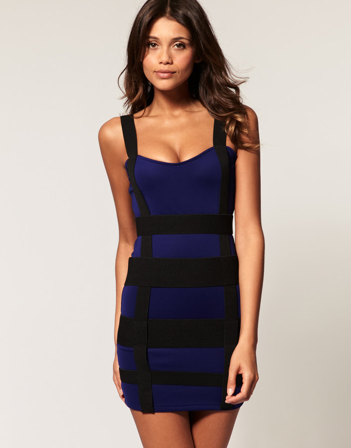 ASOS Dress with Neoprene Strapping Detail
