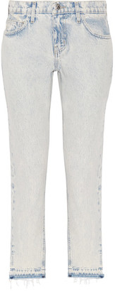 Current/Elliott - The Cropped Mid-rise Straight-leg Jeans - Light denim $220 thestylecure.com