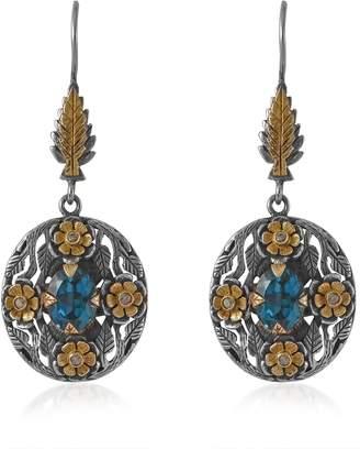 Emma Chapman Jewels - Bathsheba Blue Topaz Diamond Earrings