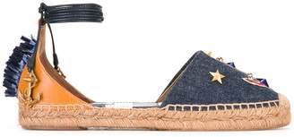 Dolce & Gabbana denim anchor espadrilles