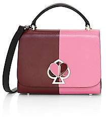 Kate Spade Women's Small Nicola Spade & Heart Lock Leather Top Handle Bag