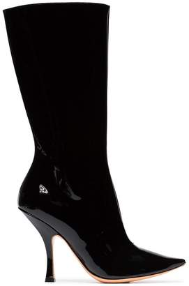 Y/Project Y / Project black chesterfield 110 patent leather boots
