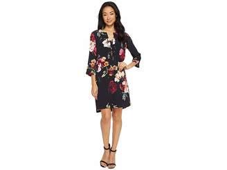 Karen Kane Floral Lace-Up Dress Women's Dress
