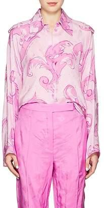Nina Ricci Women's Polished Twill Split-Back Blouse