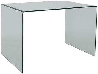 Gala Bent clear tempe glass desk