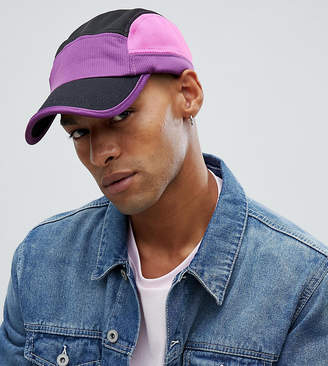 Reclaimed Vintage inspired 5 panel hat in purple