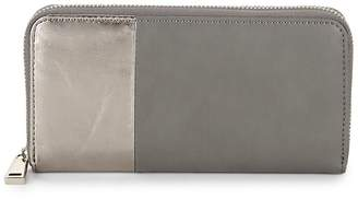 French Connection Women's Two-Tone Zip-Around Wallet
