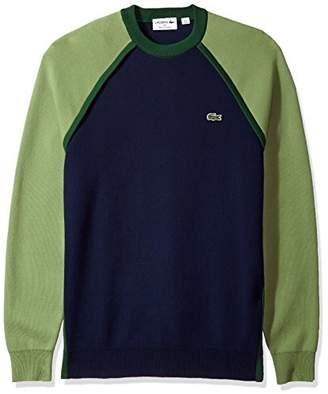 Lacoste Men's Long Sleeve Made in France Interlock Crew Sweater