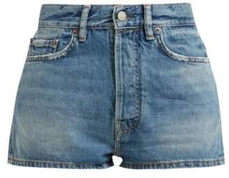 Acne Studios Mid Rise Denim Shorts - Womens - Indigo