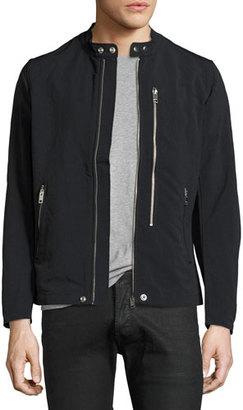 Diesel Nylon Biker Jacket, Black $198 thestylecure.com