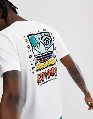 adidas Skateboarding Skateboarding t-shirt with chest logo print in white