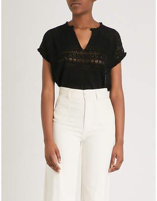 Zadig & Voltaire Pointelle cotton-knit T-shirt