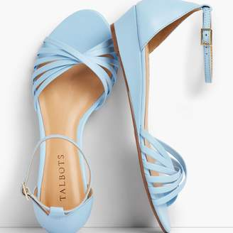 Talbots Capri Twist-Strap Wedge Sandals - Nappa Leather