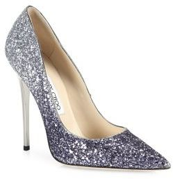 Jimmy Choo Romy 100 Glitter Degrade Point Toe Pumps $675 thestylecure.com