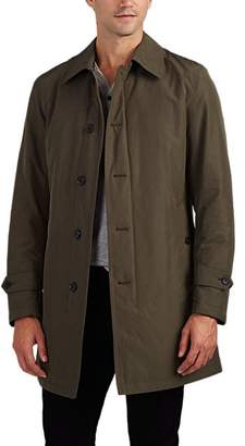 Barneys New York MEN'S INSULATED BALMACAAN RAINCOAT - OLIVE SIZE 42