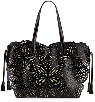 Sophia Webster Liara Canvas Butterfly Tote Bag