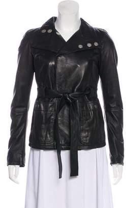 Diesel Belted Leather Jacket